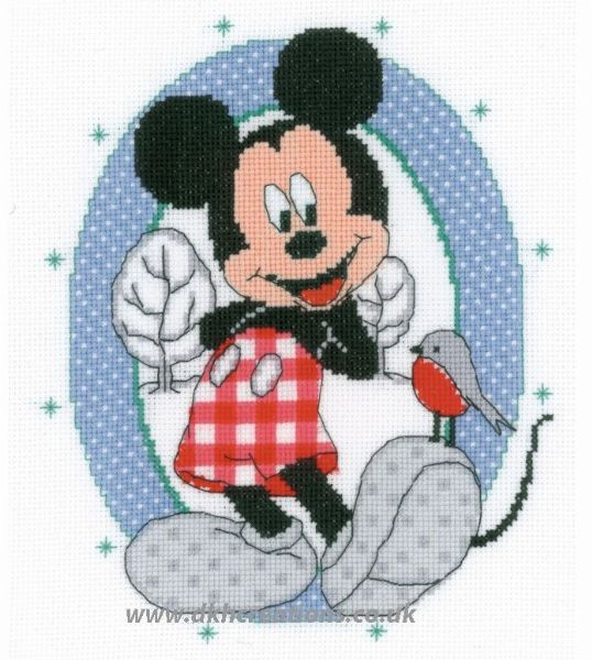 Disney Mickey Mouse And Bird Cross Stitch Kit
